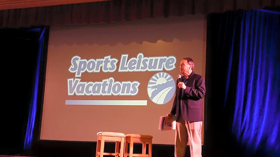 Mark Hoffmann speaking at yesterday's the Sports Leisure Tour Preview Day